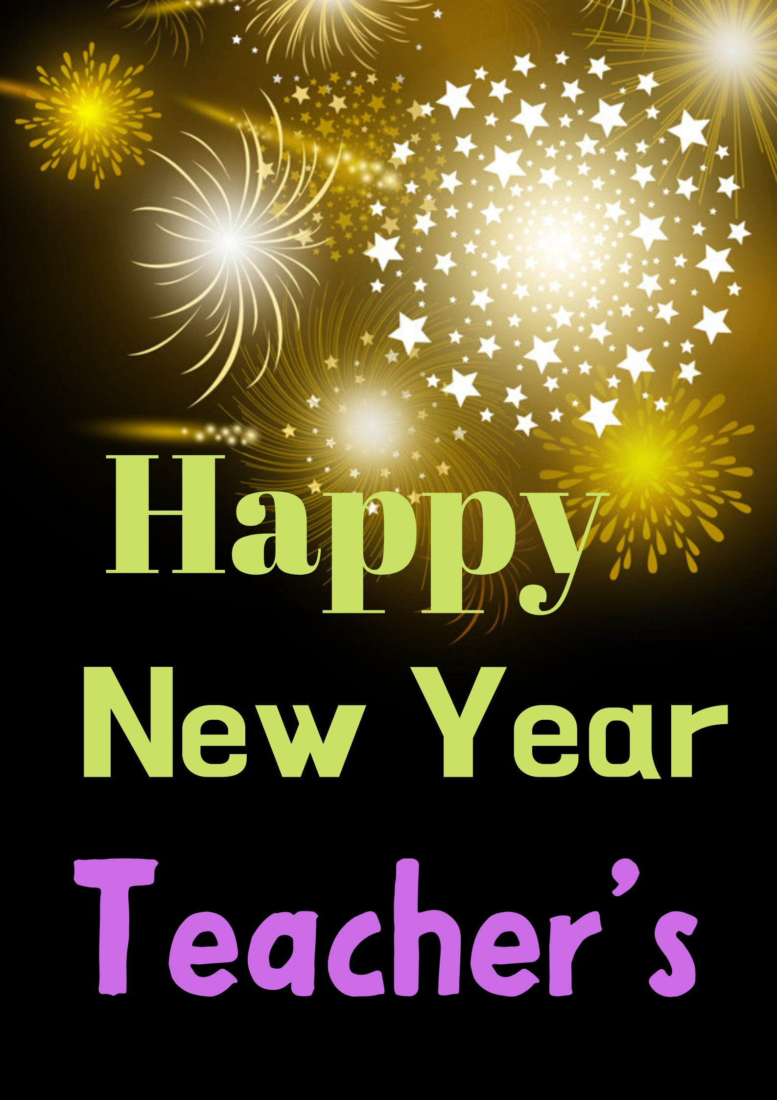 Happy New Year 2020 Wishes for Teacher