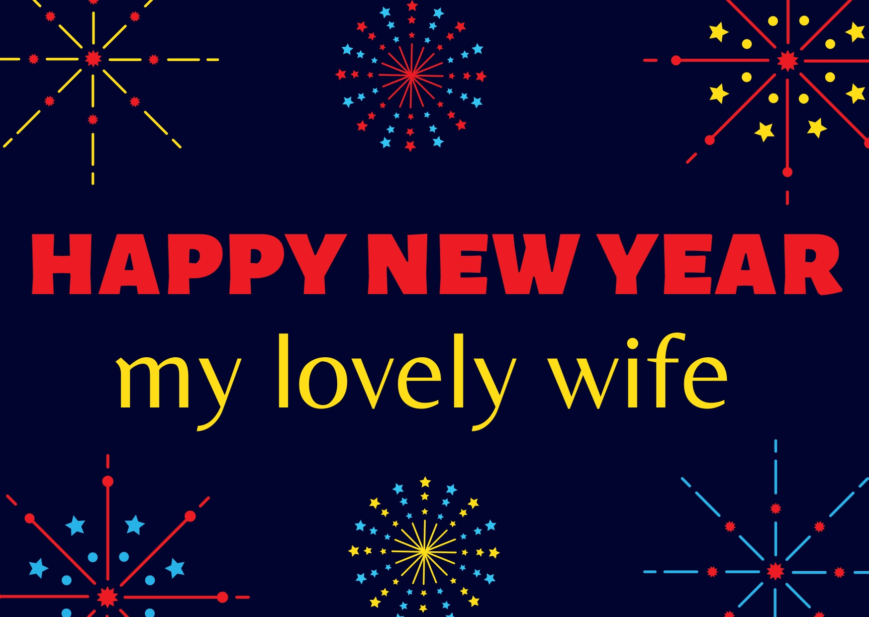 Happy New Year 2020 Wishes for My Lovely Wife