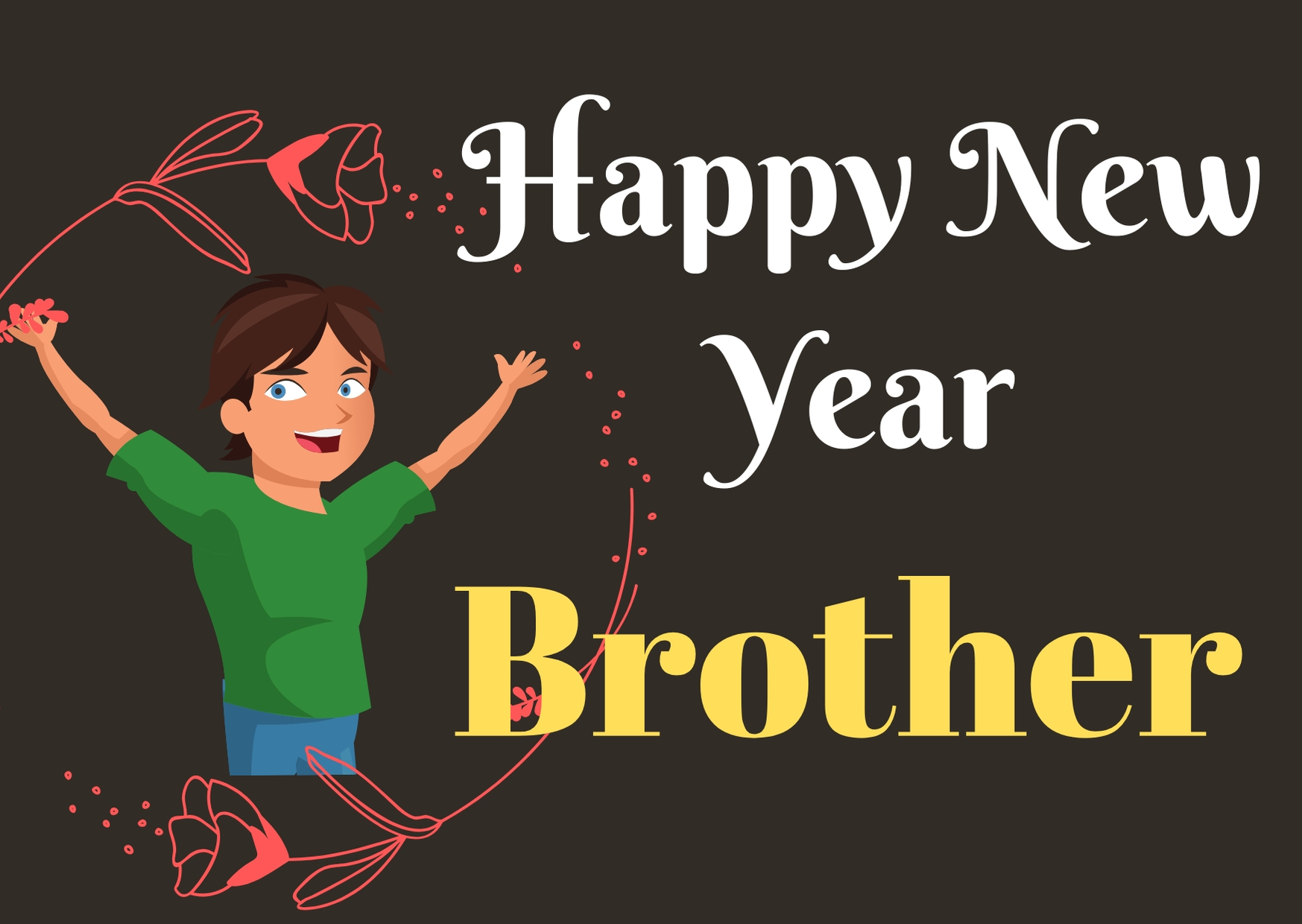 Happy New Year 2020 wishes for brother